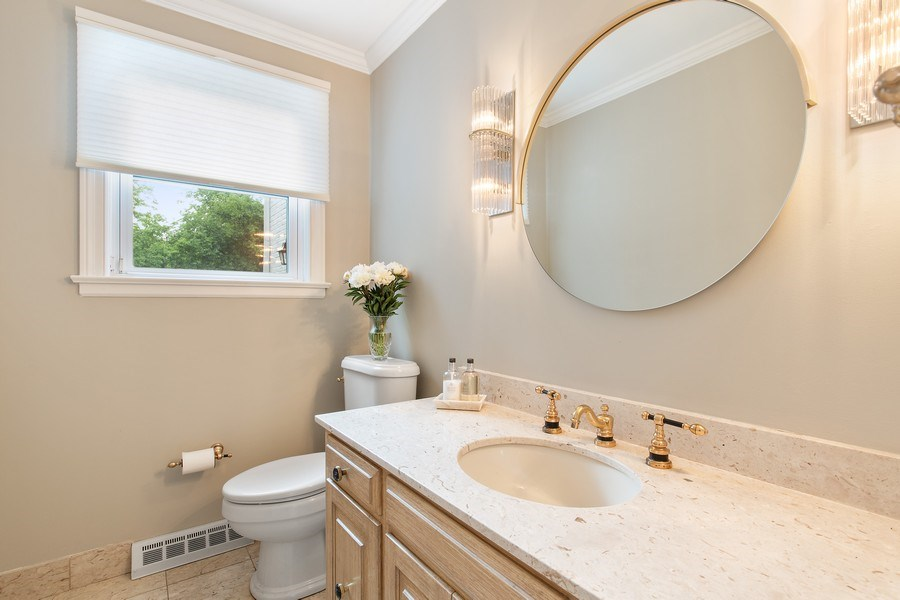 Real Estate Photography - 417 Pebblebrook Rd, Northbrook, IL, 60062 - Powder Room