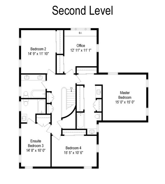 Real Estate Photography - 417 Pebblebrook Rd, Northbrook, IL, 60062 - Floor Plan