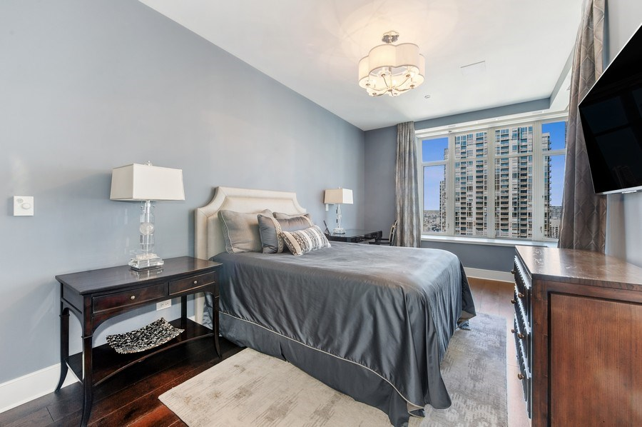 Real Estate Photography - 118 E. Erie #30G, Chicago, IL, 60611 - 2nd Bedroom