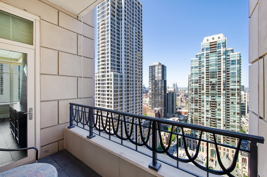 Real Estate Photography - 118 E. Erie #30G, Chicago, IL, 60611 - Balcony