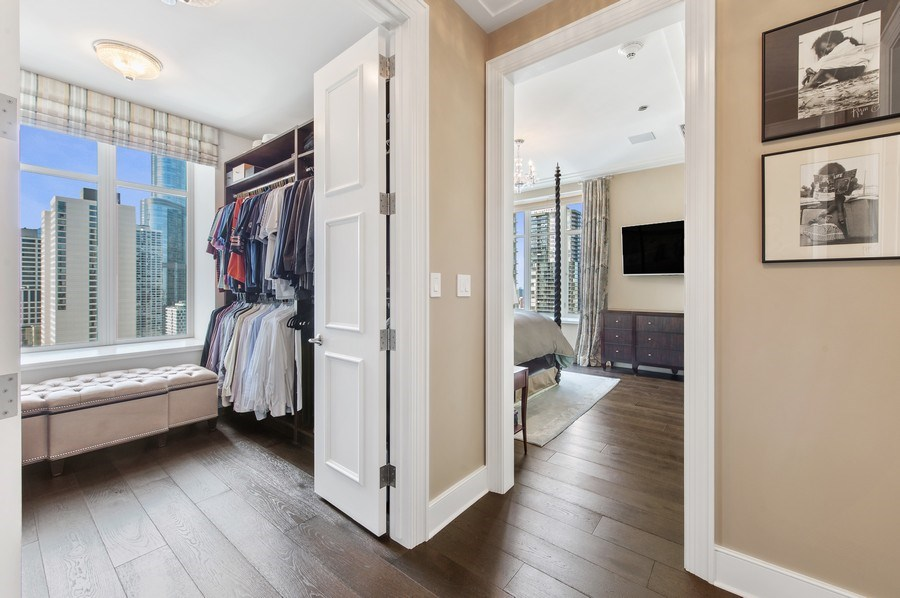 Real Estate Photography - 118 E. Erie #30G, Chicago, IL, 60611 - Master Bedroom Closet