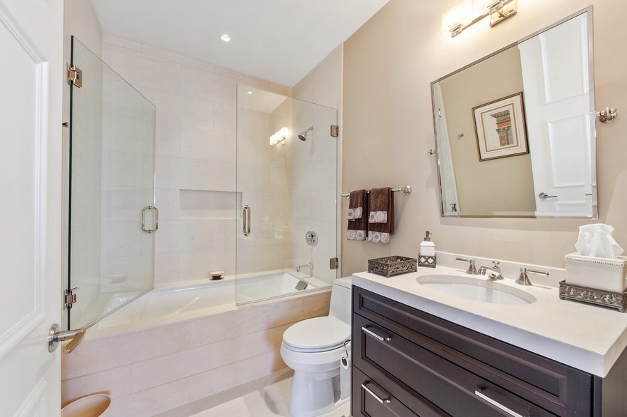 Real Estate Photography - 118 E. Erie #30G, Chicago, IL, 60611 - 2nd Bathroom
