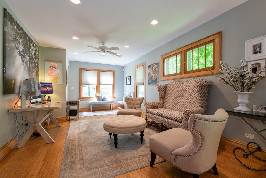 Real Estate Photography - 2323 Cowper Ave., Evanston, IL, 60201 - Living Room