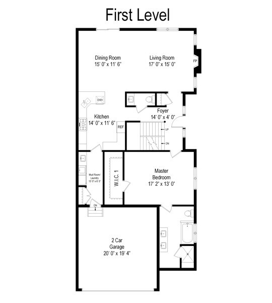 Real Estate Photography - 841, Maple, Palatine, IL, 60067 - Floor Plan