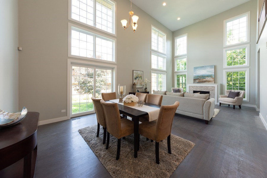 Real Estate Photography - 841, Maple, Palatine, IL, 60067 - Living Room/Dining Room