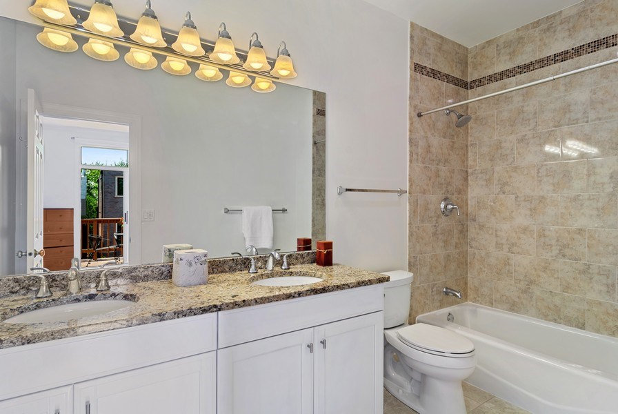 Real Estate Photography - 1123 W Altgeld St, Unit C, Chicago, IL, 60614 - Master Bathroom