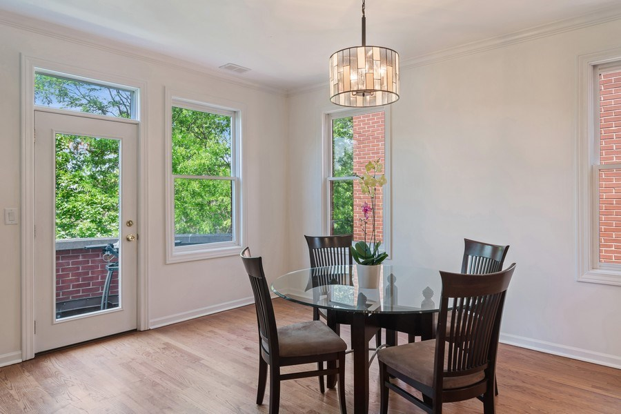 Real Estate Photography - 1123 W Altgeld St, Unit C, Chicago, IL, 60614 - Dining Room