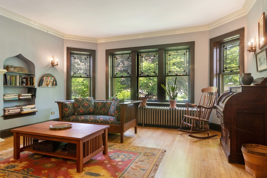 Real Estate Photography - 3032 Park Pl, Evanston, IL, 60201 - Living Room