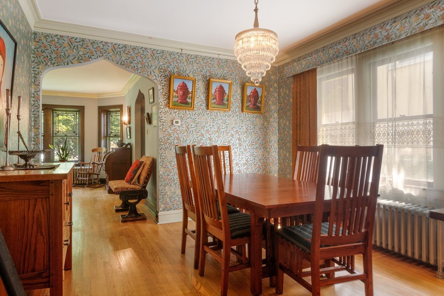 Real Estate Photography - 3032 Park Pl, Evanston, IL, 60201 - Dining Room