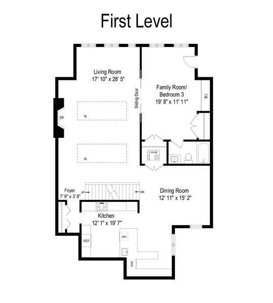 Real Estate Photography - 815 W Altgeld, Unit 2N, Chicago, IL, 60614 - Floor Plan