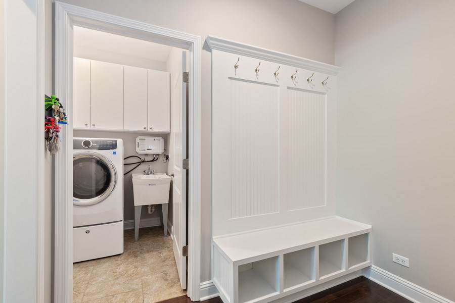 Real Estate Photography - 1375 Kensington Ct, Glenview, IL, 60025 - Mudroom