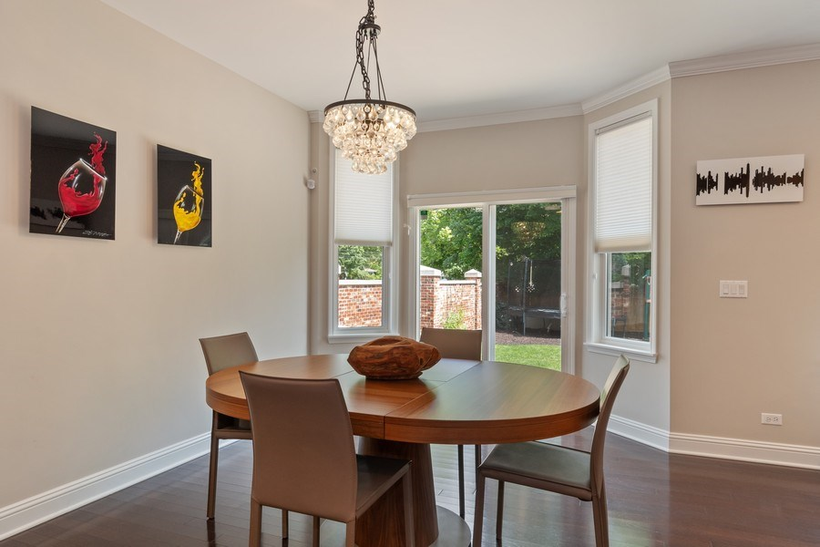 Real Estate Photography - 1375 Kensington Ct, Glenview, IL, 60025 - Dining Area