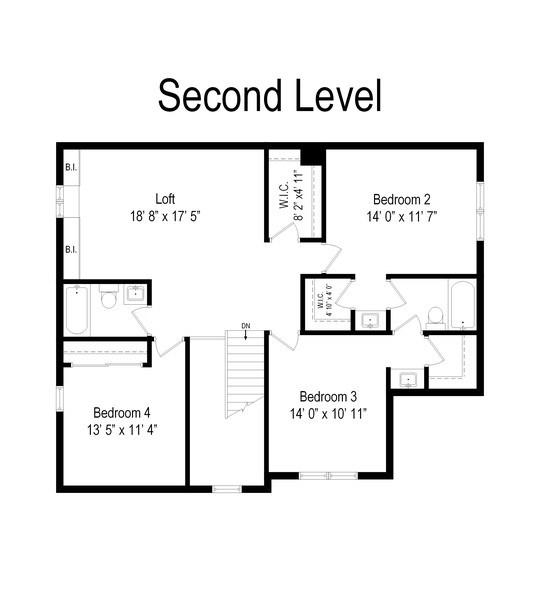 Real Estate Photography - 1375 Kensington Ct, Glenview, IL, 60025 - Floor Plan