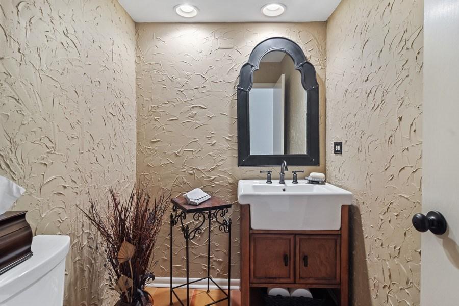 Real Estate Photography - 3623 Keenan Lane, Glenview, IL, 60025 - Half Bath