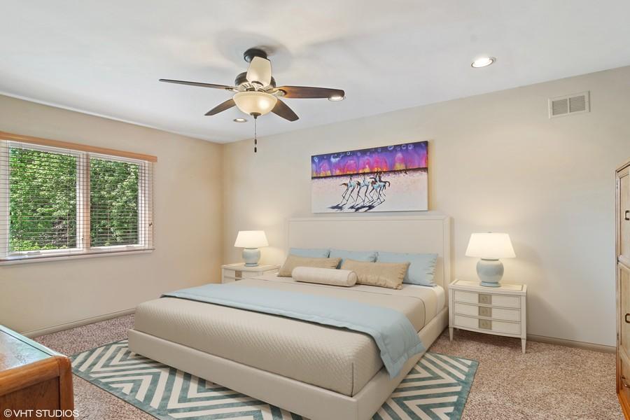 Real Estate Photography - 3623 Keenan Lane, Glenview, IL, 60025 - Master Bedroom