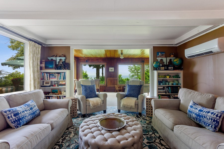 Real Estate Photography - 49019 Skyhi Road, New Buffalo, MI, 49117 - Living Room