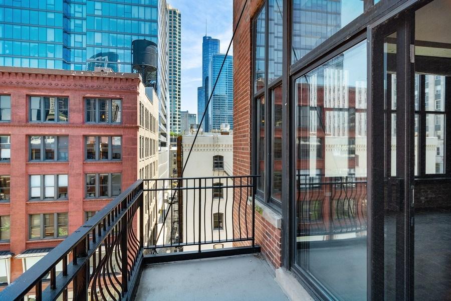 Real Estate Photography - 333 W Hubbard #510, Chicago, IL, 60654 - Balcony