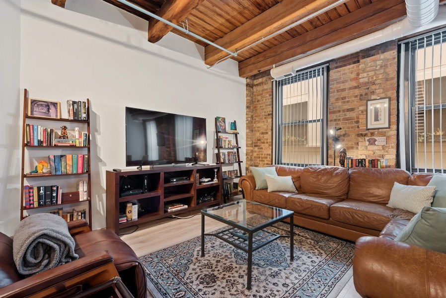 Real Estate Photography - 225 W. Huron, #318, Chicago, IL, 60654 - Living Room