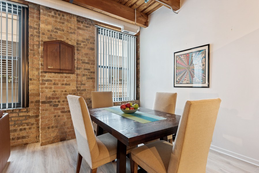 Real Estate Photography - 225 W. Huron, #318, Chicago, IL, 60654 - Dining Room