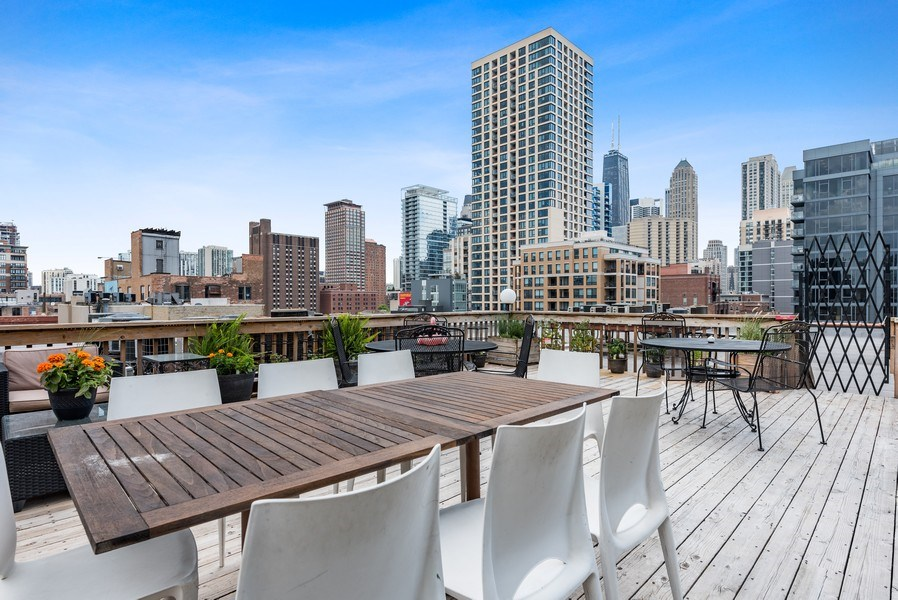 Real Estate Photography - 225 W. Huron, #318, Chicago, IL, 60654 - Deck