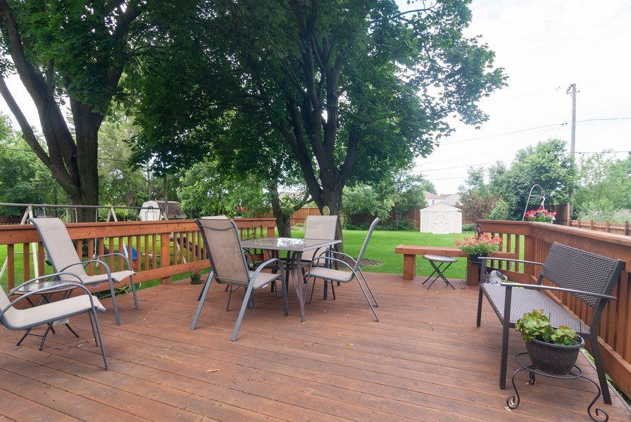 Real Estate Photography - 801 Whitlock, Aurora, IL, 60506 - Deck