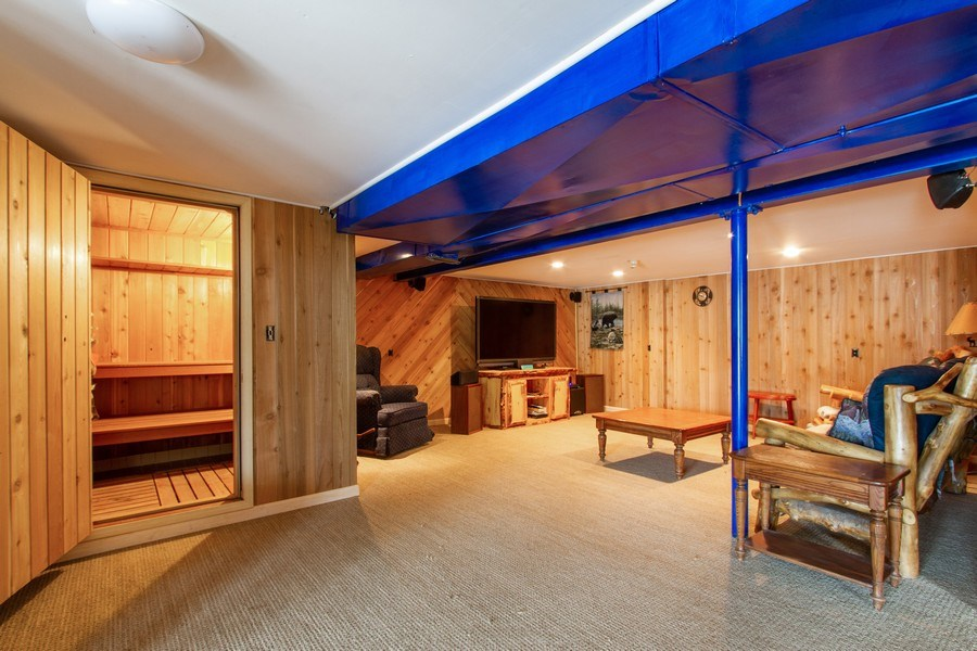 Real Estate Photography - N1790 Wildwood Dr, Lake Geneva, WI, 53147 - Lower Level with Sauna