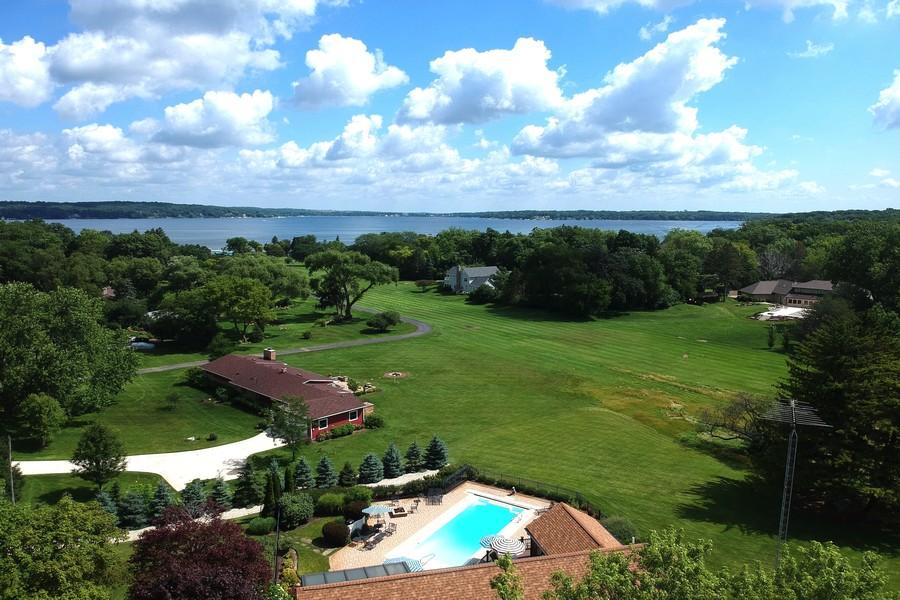 Real Estate Photography - N1790 Wildwood Dr, Lake Geneva, WI, 53147 - Lake Aerial View