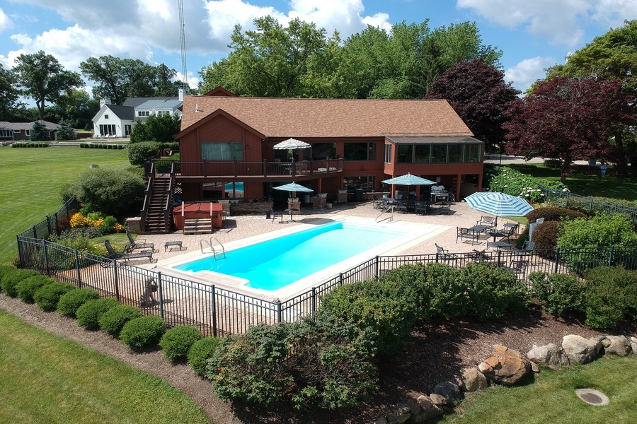 Real Estate Photography - N1790 Wildwood Dr, Lake Geneva, WI, 53147 - Front Aerial