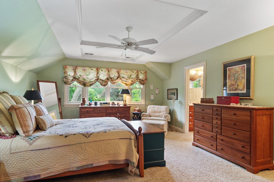 Real Estate Photography - 730 E Hawthorne, Arlington Heights, IL, 60004 - Master Bedroom with Walk in Closet