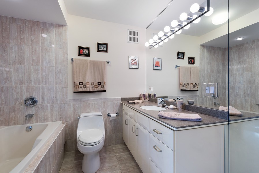 Real Estate Photography - 505 N. Lake Shore Drive, Unit 4802, Chicago, IL, 60611 - Master Bathroom