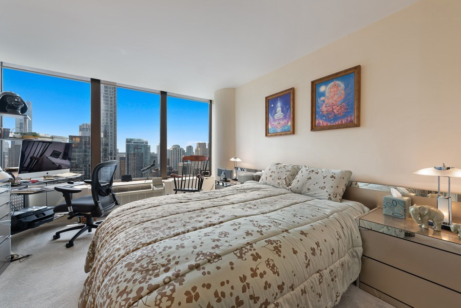Real Estate Photography - 505 N. Lake Shore Drive, Unit 4802, Chicago, IL, 60611 - 2nd Bedroom