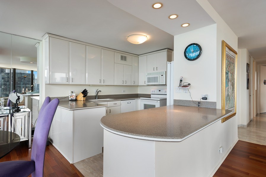 Real Estate Photography - 505 N. Lake Shore Drive, Unit 4802, Chicago, IL, 60611 - Kitchen