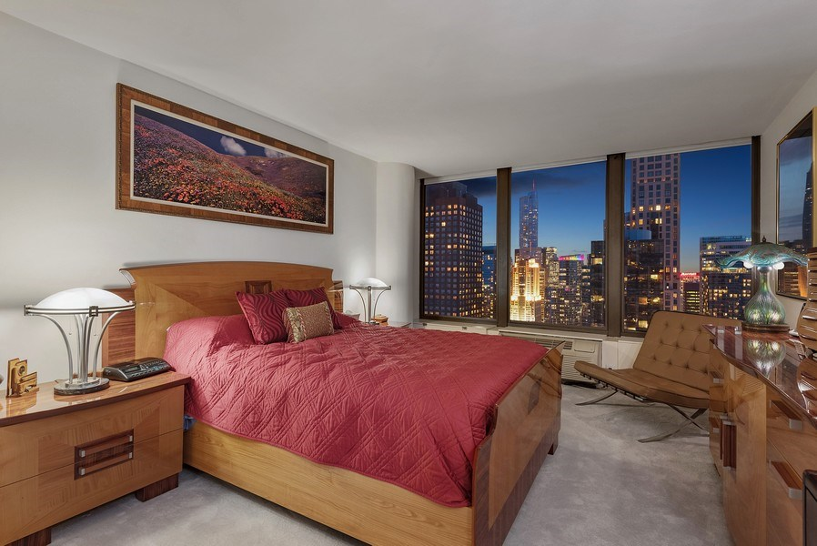 Real Estate Photography - 505 N. Lake Shore Drive, Unit 4802, Chicago, IL, 60611 - Master Bedroom