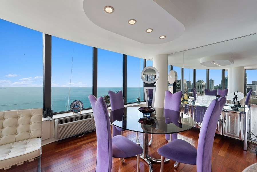 Real Estate Photography - 505 N. Lake Shore Drive, Unit 4802, Chicago, IL, 60611 - Dining Room