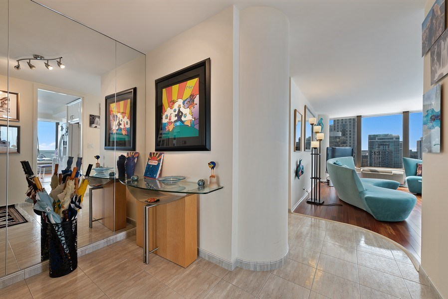 Real Estate Photography - 505 N. Lake Shore Drive, Unit 4802, Chicago, IL, 60611 - Foyer