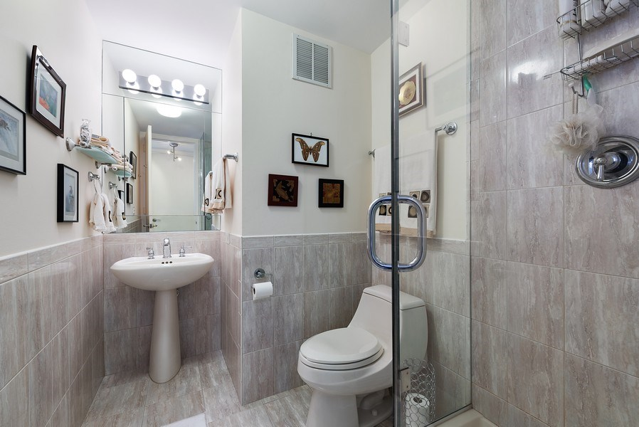 Real Estate Photography - 505 N. Lake Shore Drive, Unit 4802, Chicago, IL, 60611 - 2nd Bathroom
