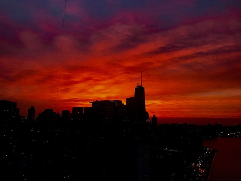 Real Estate Photography - 505 N. Lake Shore Drive, Unit 4802, Chicago, IL, 60611 - Sunset