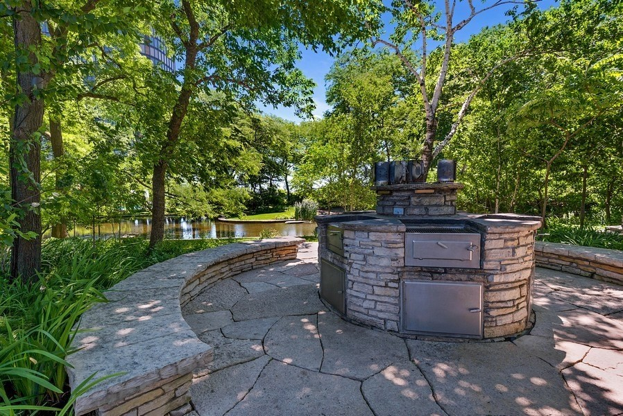 Real Estate Photography - 505 N. Lake Shore Drive, Unit 4802, Chicago, IL, 60611 - BBQ Area