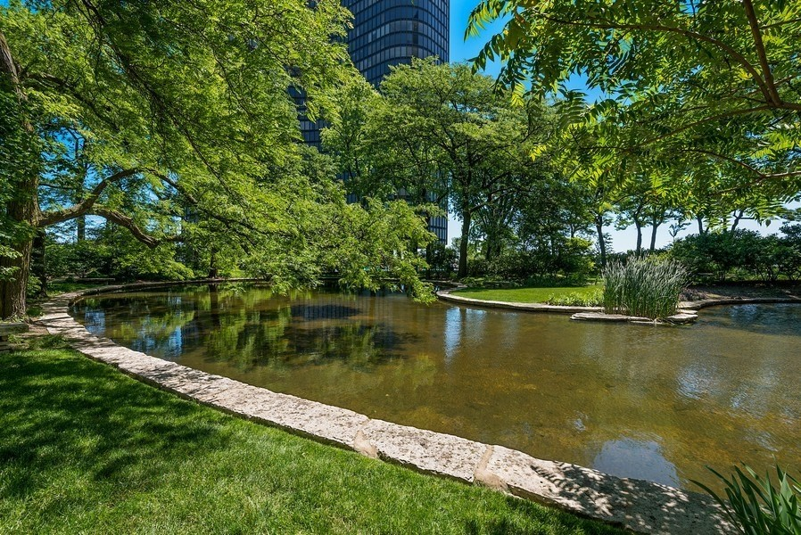Real Estate Photography - 505 N. Lake Shore Drive, Unit 4802, Chicago, IL, 60611 - Pond