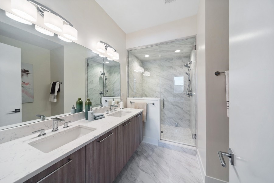 Real Estate Photography - 1220 W. Ohio #2, chicago, IL, 60642 - Master Bathroom
