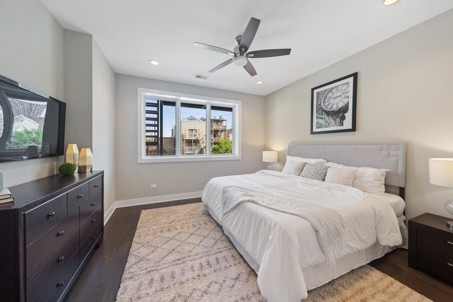 Real Estate Photography - 1220 W. Ohio #2, chicago, IL, 60642 - Master Bedroom