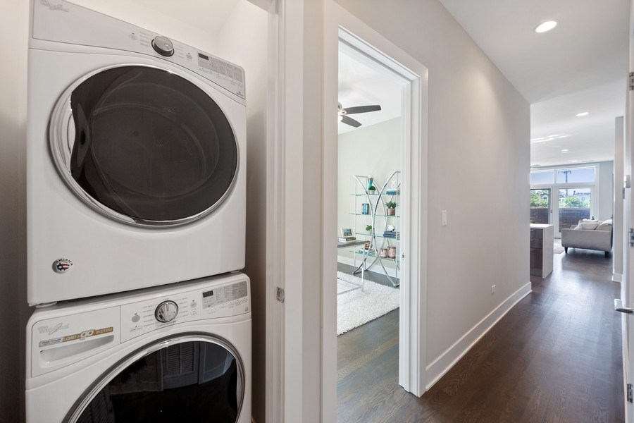 Real Estate Photography - 1220 W. Ohio #2, chicago, IL, 60642 - Laundry Room