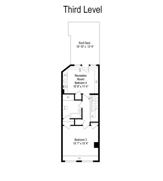 Real Estate Photography - 30 E. Scott St., Chicago, IL, 60610 - Floor Plan