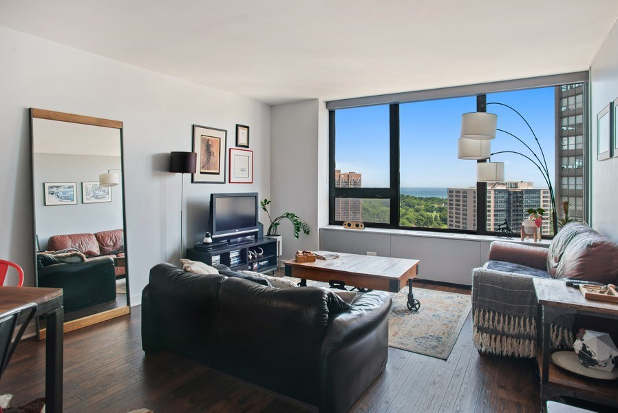 Real Estate Photography - 3930 N. Pine Grove, 2213, Chicago, IL, 60614 - Living Room