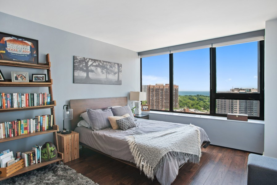 Real Estate Photography - 3930 N. Pine Grove, 2213, Chicago, IL, 60614 - Bedroom