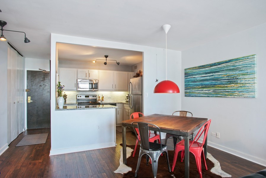 Real Estate Photography - 3930 N. Pine Grove, 2213, Chicago, IL, 60614 - Dining Room