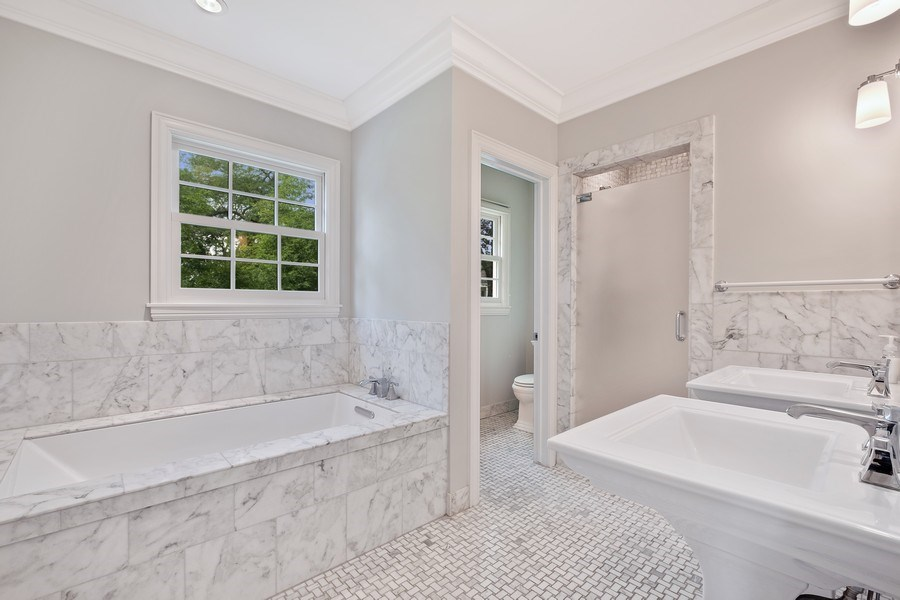 Real Estate Photography - 455 Landreth Ln, Northfield, IL, 60093 - Master Bathroom