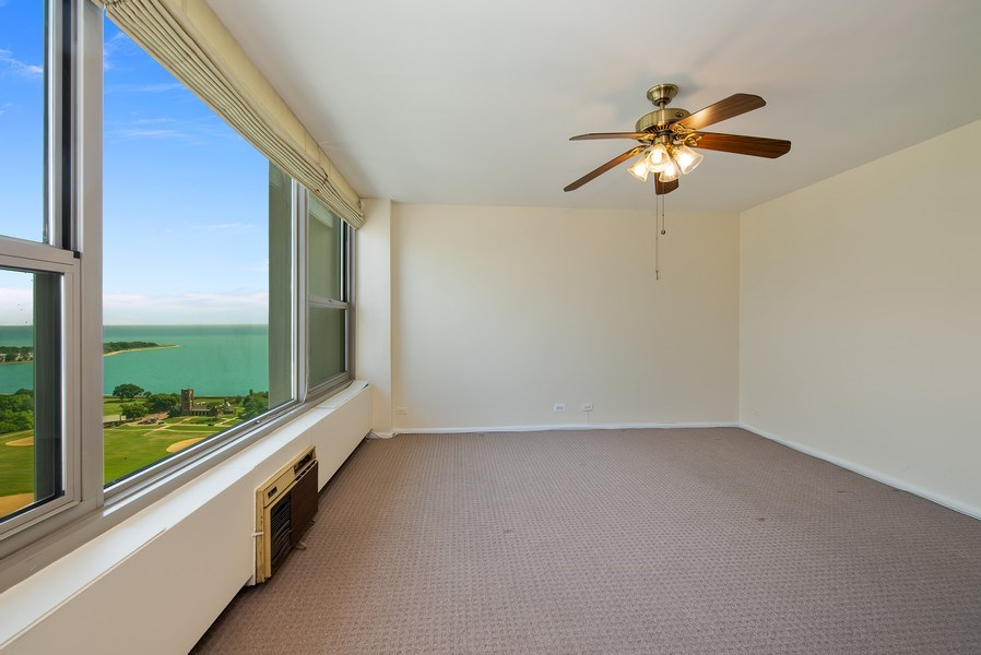 Real Estate Photography - 3600 N Lake Shore Dr, Unit 2812, Chicago, IL, 60613 - Bedroom