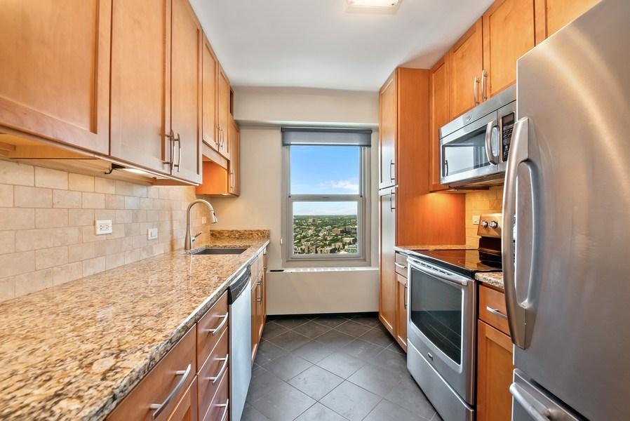 Real Estate Photography - 3600 N Lake Shore Dr, Unit 2812, Chicago, IL, 60613 - Kitchen