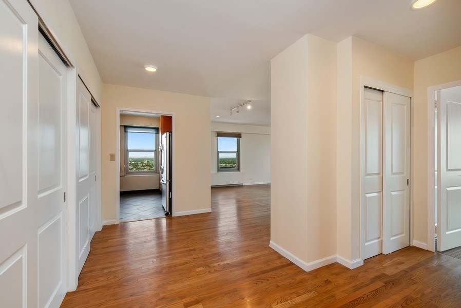 Real Estate Photography - 3600 N Lake Shore Dr, Unit 2812, Chicago, IL, 60613 - Hallway